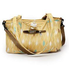 Kids Line Maize Harlequin Carryall Diaper Bag  original $75.00