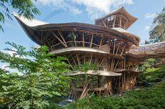Ibuku bamboo building
