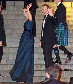 Prince William and Catherine, Duchess of Cambridge at St. Andrews University Gala at Met Museum in NYC. December 9, 2014.