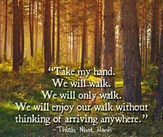 """""""Take my hand. We will walk. We will only walk. We will enjoy our walk without thinking of arriving anywhere."""""""