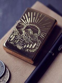 Free People Engraved Lighter Case