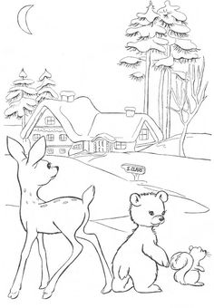 "from ""Little Miss Christmas and Santa"" coloring book"