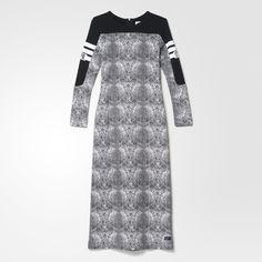 adidas Snakeprint Dress - White   adidas UK