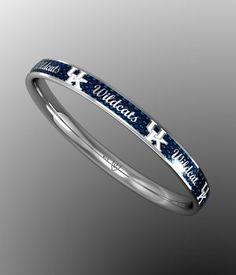 """Kentucky Blue """"Wildcats"""" Bangle Bracelet"""
