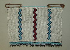 "Xhosa Beaded Panel  Blanket Pin or Cloak Pin ""Ithumbu"" - Xhosa Beadwork. This beaded pin, sometimes referred to as a ""love letter"", is so large that it may  be considered a beaded panel. It it of the style popular around Cofimvaba and likely dates to the 1940's."