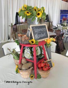 #farmers market #sunflowers #barn wedding #Bauer Ranch #ranch wedding Teacher Appreciation Luncheon, Garden Table, Farmers Market, Sunflowers, Ranch, Centerpieces, Barn, Wedding Ideas, Marketing