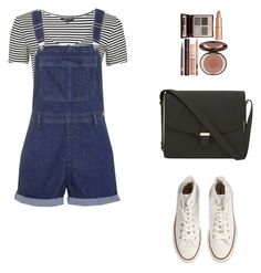 """""""Casual."""" by roci28 ❤ liked on Polyvore featuring Converse, Victoria Beckham, Topshop and Charlotte Tilbury"""