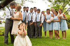 bridal party flower girl wedding photo inspirations