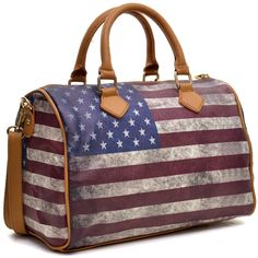 Dasein Studded American/ British Flag Satchel ($45) ❤ liked on Polyvore featuring bags, handbags, leather satchel purse, studded leather handbag, satchel handbags, imitation purses et real leather handbags