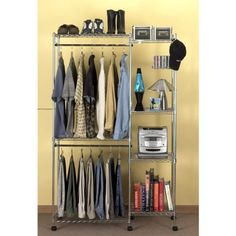 AmazonSmile - Seville Classics Closet Room Organizer with Cover, 18-inch by 47-inch by 74-Inch - Closet Storage And Organization Systems