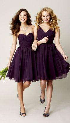 Style your girls in a fabulous V-neck chiffon bridesmaid dress that they will love wearing for your big day. The Kennedy Blue Chloe is that dress and will compliment your bridal gown perfectly. The Ch