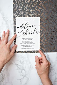 To spruce up your printable wedding invitations, we recommend adding glitz and charm by creating your own invitation borders using patterned craft paper | Pipkin Paper Company
