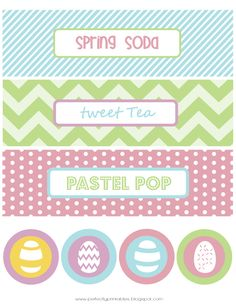 Free Easter Printables on prettymyparty.com