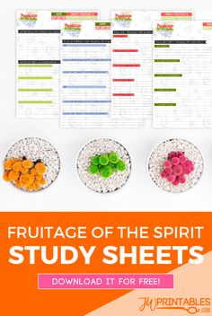 Fruitage Of The Spirit Personal Study Sheets JW - JW Printables