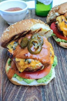 Krissy's Favorites: Jalapeno Cheddar Chicken Burgers with Chipotle Barbecue Aioli