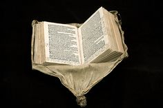 Photo: István Borbás/National Library of Sweden The printed book is from 1508, the blind-tooled leather binding from 1579 and the exterior knotted leather cover was added ten years later, in 1589. At some point in the book's life, flaps were cut into the front and back of the exterior cover so that the imprint on the leather binding underneath became visible