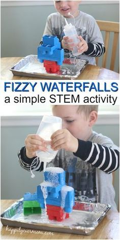 This easy toddler science experiment is a fabulous way to bring STEM to life for little ones! They'll build, predict, and cause reactions with very little adult help or supervision. If you think science is complicated or too difficult to do at home, try t Science For Toddlers, Science Experiments For Preschoolers, Preschool Science Activities, Science For Kids, Science Projects, Preschool Activities, Toddler Preschool, Science Fun, Chemistry Experiments