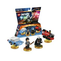 Lego Dimensions Harry Potter Team Pack (Harry Potter, Lord Voldemort, Enchanted Car, and Hogwarts Express included)