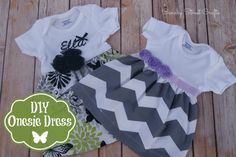 DIY onesie dress. So cute!! - canarystreetcrafts.com