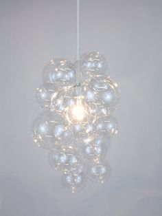 Diy the simple chandelier is a single lamp cord with 11 small the waterfall bubble chandelier 20 tall aloadofball Images