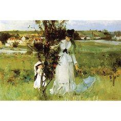 Buyenlarge 'Hide and Seek' by Bertha Morisot Painting Print