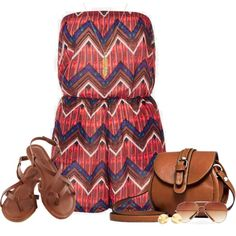 """""""Chevron Romper"""" by qtpiekelso on Polyvore"""