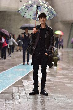 Street style: Byun Woo Seok at Seoul Fashion Week Spring 2015 shot by Baek Seung Won Streets Finest