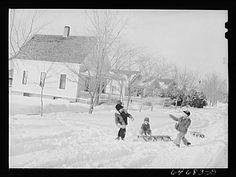 Photo:Richardton,North Dakota. Snowfight