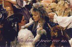 """Labyrinth"" ""As The World Falls Down"" with David Bowie and Jennifer Connelly - I LOVE her hair in this scene."