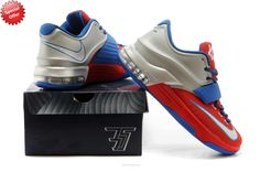 hot sale online b6907 8f5cc Nike KD VII Silver Blue Red, cheap KD If you want to look Nike KD VII  Silver Blue Red, you can view the KD 7 categories, there have many styles  of sneaker ...