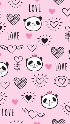 Lovely panda,like that. Panda Wallpaper Iphone, Cute Panda Wallpaper, Bear Wallpaper, Kawaii Wallpaper, Pastel Wallpaper, Cute Wallpaper Backgrounds, Animal Wallpaper, Love Wallpaper, Galaxy Wallpaper