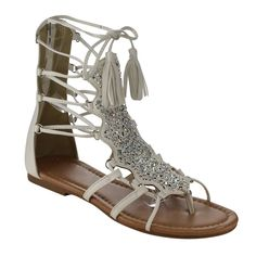 Give your footwear an upgrade with these Beston Lace Up Gladiator Sandals. Put some stylish style in your step with this gladiator ankle sandals. Featuring rhinestone accents on the vamp, lace up Pretty Shoes, Cute Shoes, Me Too Shoes, Best Toddler Shoes, Fly Shoes, Women's Shoes, Lace Up Gladiator Sandals, Vintage Heels, Sandals Outfit