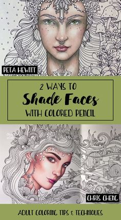 2 Ways to Shade Faces with Colored Pencils