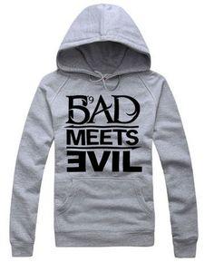 Eminem BAD MEETS EVIL rock Cotton hoodie sweater