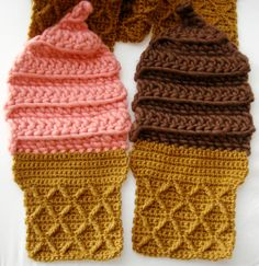 strawberry and chocolate scarf