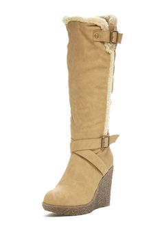 Bucco Larena Faux Fur Lined Wedge Tall Boot on HauteLook
