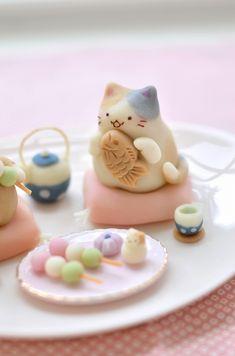 Japanese Sweets, Japanese Wagashi, Japanese Snacks, Japanese Candy, Japanese Food, Cute Baking, Kawaii Dessert, Bento Recipes, Cute Desserts