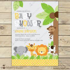 Jungle Safari Baby Shower Invitation Printable