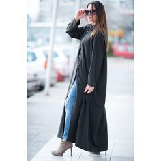 Black Kaftan, Extravagant Long Dress, Abaya Dress, Black Maxi Dress,... (€105) ❤ liked on Polyvore featuring maxi kaftan