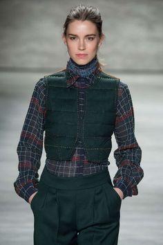 Model Eliza Hartmann for Costello Tagliapietra AW15 NYFW 2/12/15