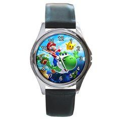 New SUPER MARIO BROS Galaxy Round Metal Watch by SmileKu