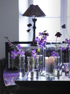 Purple Flowers Tabletop Decoration. @Luann Lang #Purple #Flowers #Decorations #Decor #LivingRoom #DecorativeAccessories homedecoratingide...