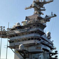 cvn-70 uss carl vinson island superstructure