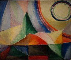Sonia Delaunay. Contrastes simultanés, 1912. Huile sur toile ; 46 × 55 cm. Paris, collection du Centre Pompidou, Mnam / Cci Donation de Sonia et Charles Delaunay en 1964.
