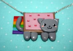 Nyan Cat Necklace by TheCraftyTash on Etsy