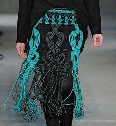 Proenza Schouler: Make a macrame skirt.