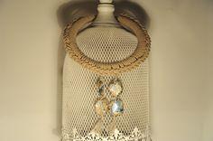 collana SAVANA - cod. 01 - resina e filato di lino au crochet necklace SAVANA - resin beads and flax http://www.lacortevenezia.it/