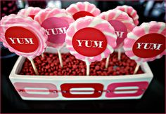 DIY: Candy Buffet Lollipop Displays.. Think I might do something like this for my display assessment ❤