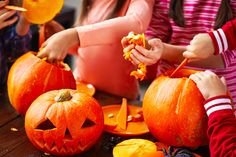 The Ritz-Carlton, Tysons Corner has a novel tip for carving your jack-o-lantern this Halloween. Instead of starting out around the stem, cut a ring into the bottom of the pumpkin. This configuration makes it easier to remove the pulp, and easier to light, too, with the bottom serving as a convenient candle stand.
