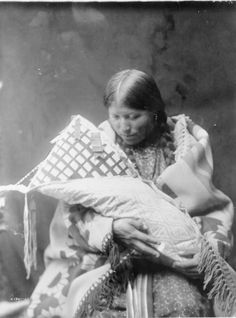 Cheyenne Mother and Child Photograph - About 1905